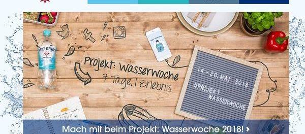 Gerolsteiner Mineralwasser Gewinnspiel Projekt Wasserwoche 2018