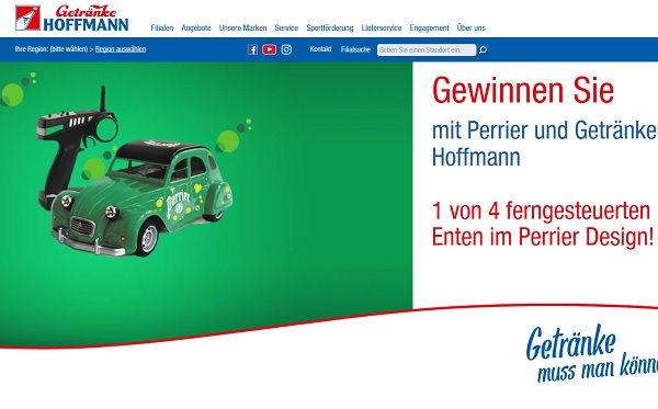 Getränke Hoffmann Gewinnspiel Perrier RC Autos