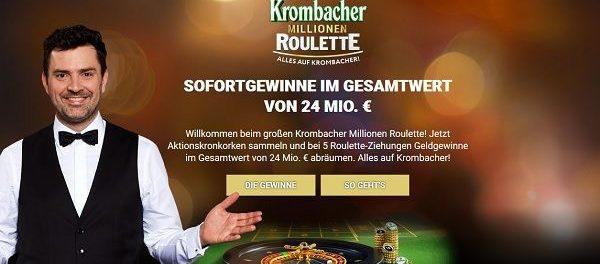 Gewinnspiel Krombacher Millionen Roulette Kronkorken Aktion 2018