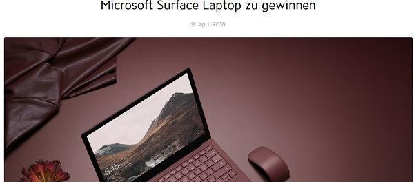 Jolie Gewinnspiel Microsoft Surface Laptop