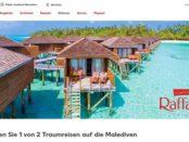 Kaufland Gewinnspiel Raffaello Malediven Reisen gewinnen