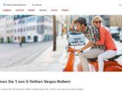 Kaufland Gewinnspiele 5 Vespa Motorroller