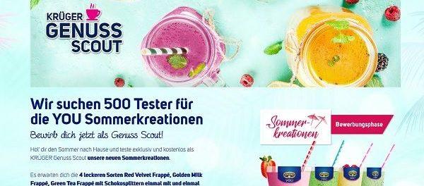 Krüger Gewinnspiel Sommeraktion 500 Produktpakete