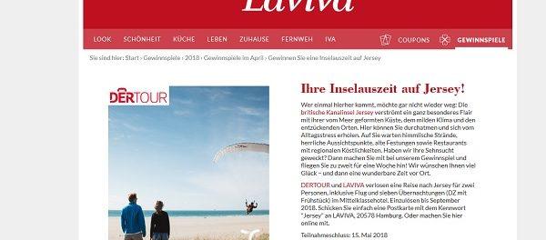 Laviva Com Gewinnspiele reise gewinnspiel laviva jersey inselurlaub 2 personen
