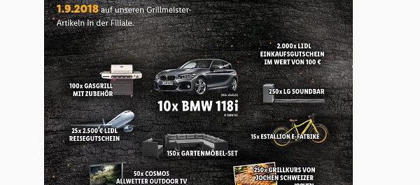 Auto Gewinnspiel Bmw 118i Lidl Grillmeister Sammelaktion 2018