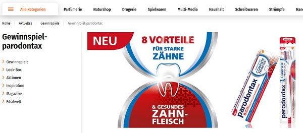 Müller Gewinnspiel Parodontax Fischer E-Bike