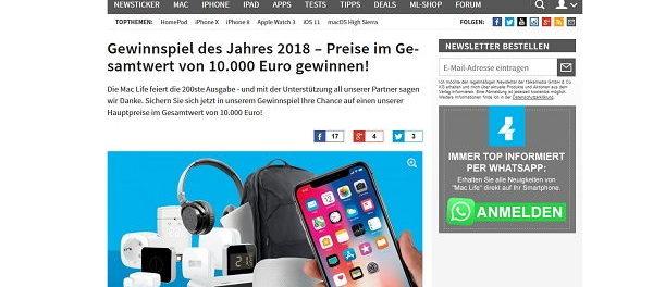 Mac Life Magazin Gewinnspiel 2018