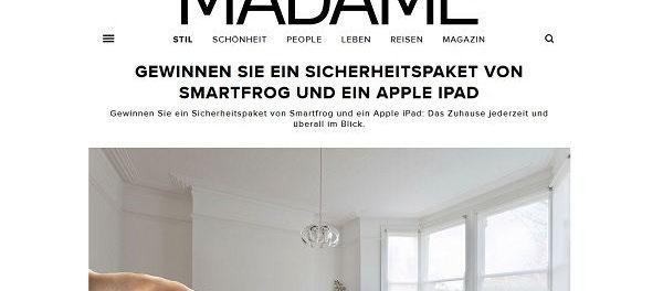 Madame Gewinnspiel Apple iPad und Smartfrog Sicherheitspaket