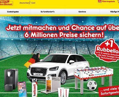 Netto Gewinnspiel Audi Q2 Weltmeister Rubbellos Aktion 2018