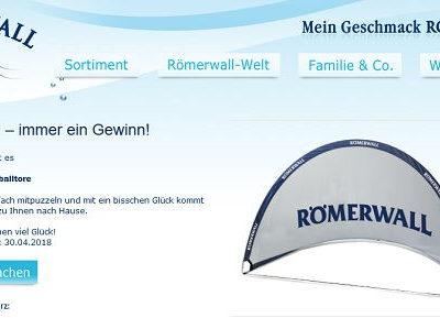 Römerwall Gewinnspiel Outdoor Fußballtore