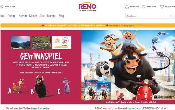 hot sale online c2e03 d1f4f Reno Schuhe Gewinnspiel All-Inclusive Familienurlaub Österreich