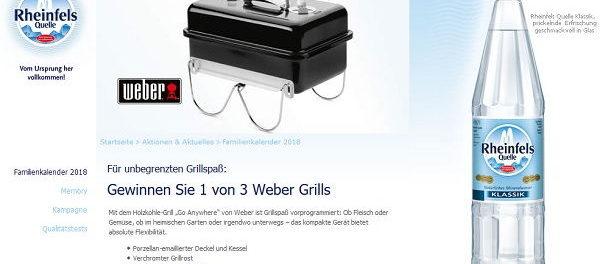 Rheinfels Quelle Weber Grill Gewinnspiel