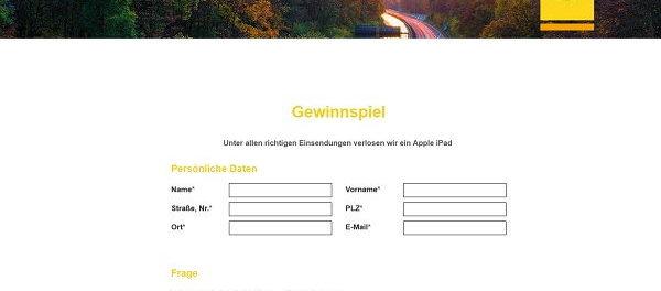 SVG Bundesstraßenmaut Gewinnspiel Apple iPad