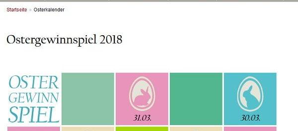 Tagesspiegel Osterkalender Gewinnspiel 2018