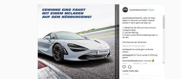 Toyotire Gewinnspiel McLaren Nürburgring Fahrt