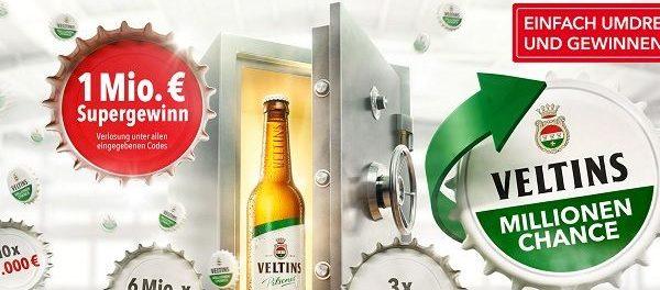 Veltins Millionenchance Kronkorken Gewinnspiel 1 Million Euro
