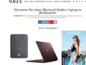 Vogue Gewinnspiele Microsoft Surface Laptop