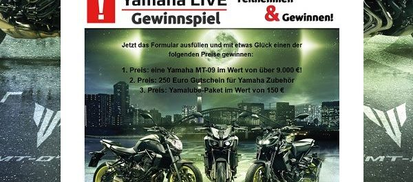 yamaha motorrad gewinnspiel mt 09 gewinnen. Black Bedroom Furniture Sets. Home Design Ideas