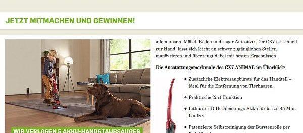 kölle Zoo Gewinnspiel 5 AEG CX7 Animal Staubsauger
