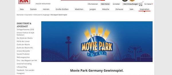 kik Gewinnspiel Movie Park Germany Familienaufenthalt