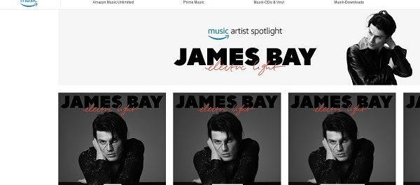 Amazon Gewinnspiel James Bay Konzertbesuch mit Anreise u. Übernachtung