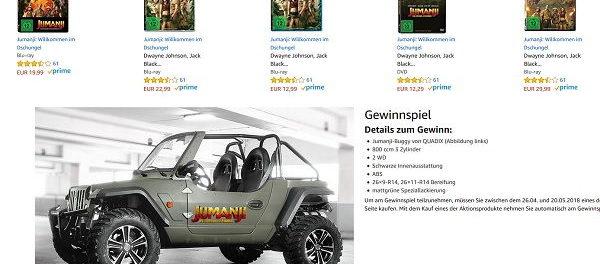 Amazon Jumanji Gewinnspiel Jumanji-Buggy von QUADIX