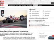 Auto Bild Gewinnspiel Rennfahrerlehrgang