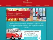 Auto-Gewinnspiel Rotkäppchen VW Bulli Samba Wert 100.000 Euro
