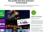 Bacchus Sommer-Gewinnspiel Reise Rhein in Flammen