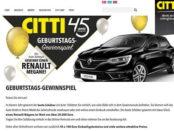 Citti Markt Auto Gewinnspiel Renault Megane