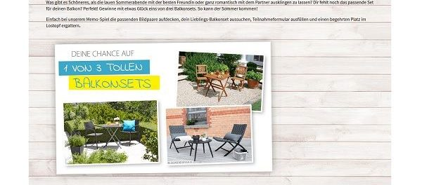 Dänisches Bettenlager Gewinnspiel Balkonsets Möbel