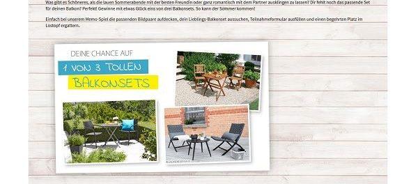 d nisches bettenlager gewinnspiel balkonsets m bel. Black Bedroom Furniture Sets. Home Design Ideas
