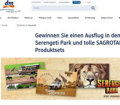DM Gewinnspiele Sagrotan Serengeti Park Aufenthalt