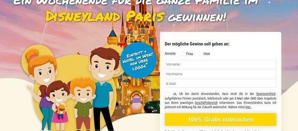 Disneyland Paris Wochenendreise Gewinnspiel