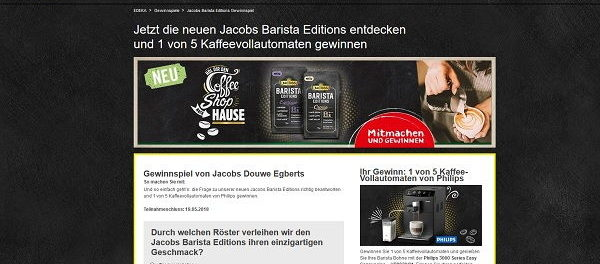 EDEKA Gewinnspiel 5 Philips Kaffeevollautomaten