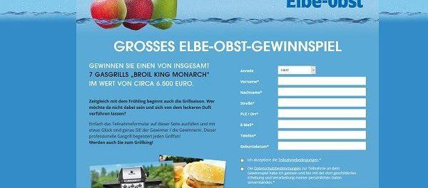 Elbe Obst Gewinnspiel 7 Gasgrill Broil King Monarch