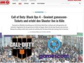 Gamez Gewinnspiel Gamescom Tickets gewinnen