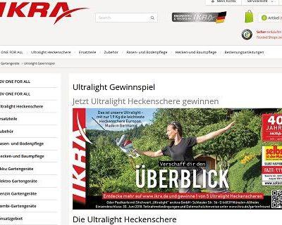 Gewinnspiel IKRA Ultralight Heckenschere gewinnen