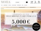 Gewinnspiel Mona Versand Reise oder Bargeld