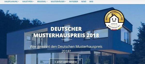 Gewinnspiel Musterhauspreis 2018 viele Sachpreise und Gutscheine