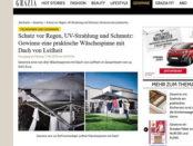Grazia Magazin Gewinnspiel Leifheit Wäschespinne mit Dach