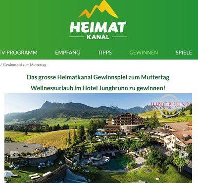 Heimatkanal Muttertags-Gewinnspiel Wellnessurlaub gewinnen