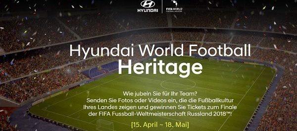 Hyundai Fußball Weltmeisterschaft Gewinnspiel Moskau Reise und Tickets