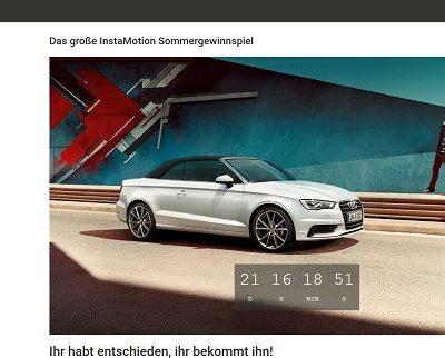 InstaMotion Gewinnspiel Audi A3 Cabrio gewinnen