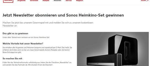 Kaufland Gewinnspiel Sonos Heimkino-Set