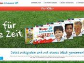 Kinder Schokolade Gewinnspiel WM 2018 Kickertische und Trikots