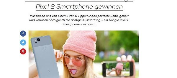 Mädchen.de Gewinnspiel Google Pixel 2 Smartphone gewinnen