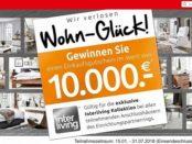 Möbel Rieger Gewinnspiel 10.000 Euro Einkaufsgutschein gewinnen