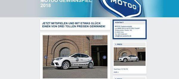 Motoo Auto Gewinnspiel Seat Ibiza gewinnen