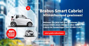 Auto Gewinnspiel: Brabus Smart Cabrio Gewinnspiel Wert von 30.000 Euro